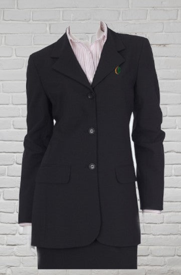 Ladies Longline Jacket - Black
