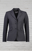 Polywool Z Stretch® Ladies Charcoal 2 Button Fitted Jacket