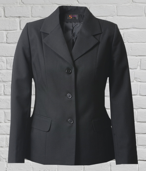 Mid Length 3 Button Jacket - Polywool - Charcoal