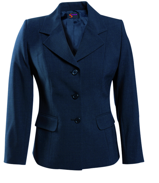 Ladies Navy 3 Button Jacket