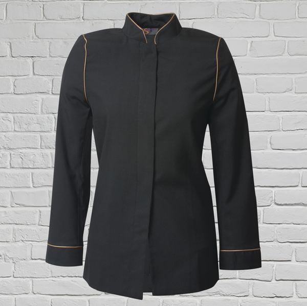 Ladies Black/Gold Banquet Jacket