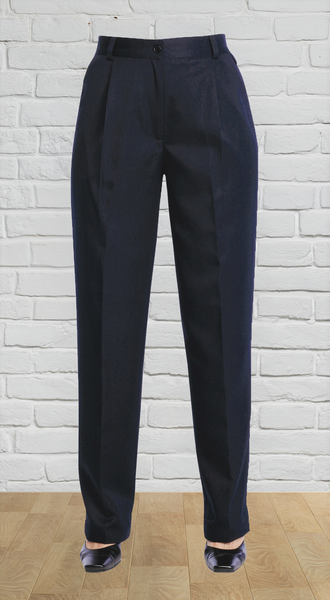 Ladies Navy Easyfit Pant