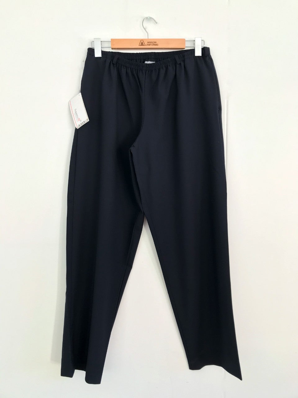 Full Elastic Waist Pullon Pants Side Pkt - Navy