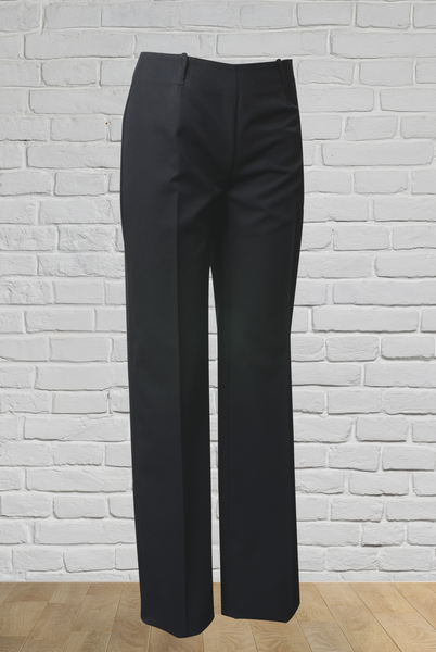 Ladies Bandless Bootleg Pant - Black