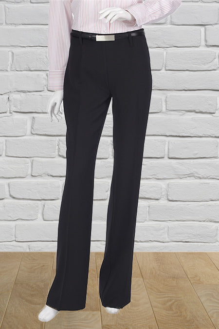 Ladies Black Bootleg Bandless Pant