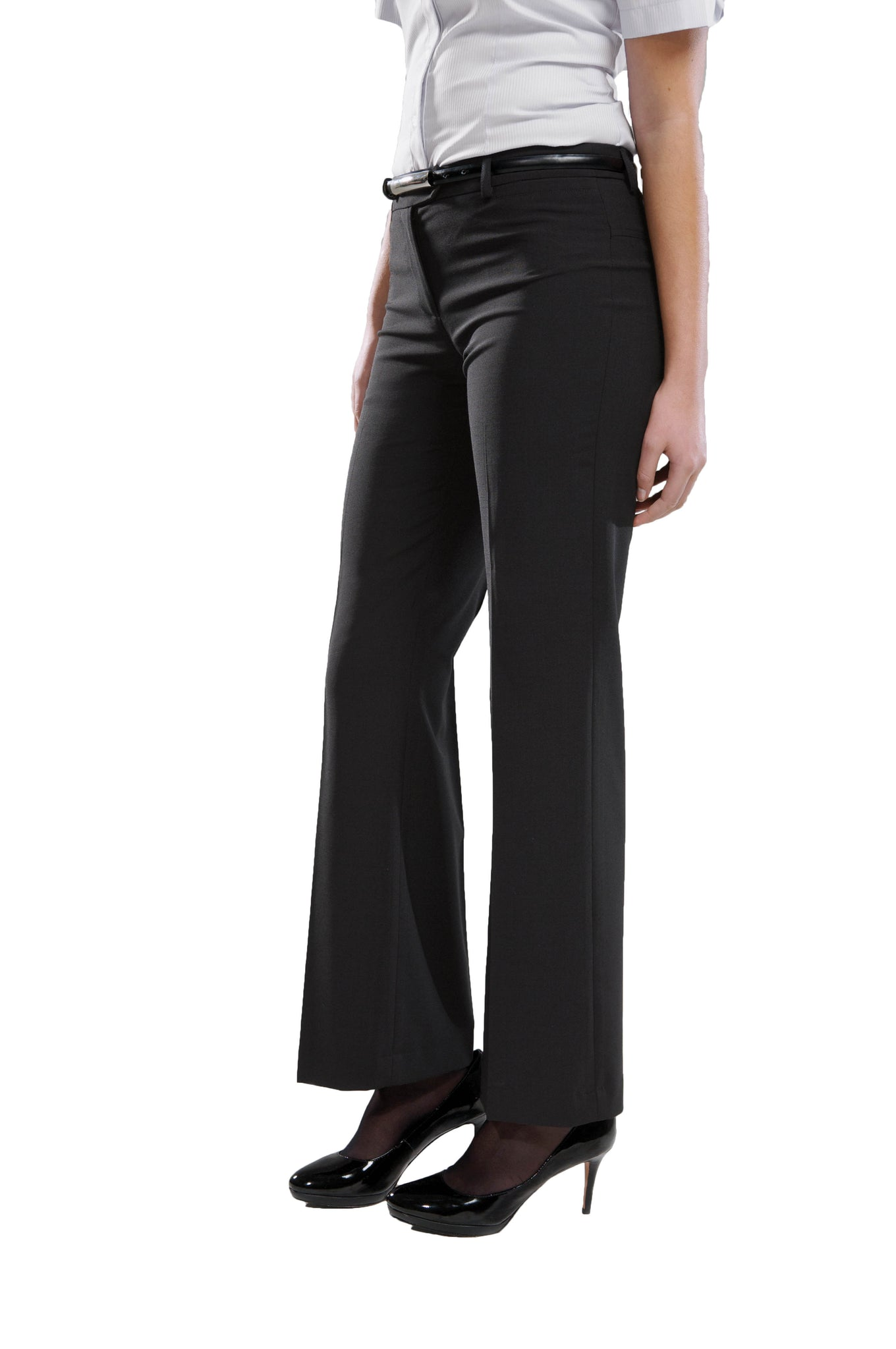 Ladies Contemporary Trouser - Polywool - Black