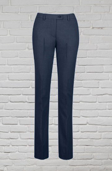 Ladies Contemporary Trouser - Polywool - Navy