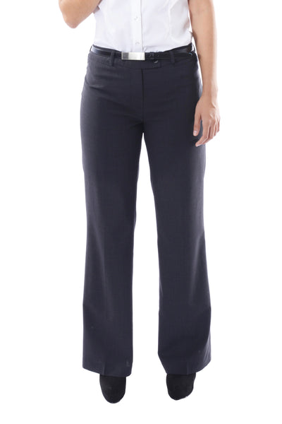 Ladies Contemporary Trouser - Polywool - Charcoal
