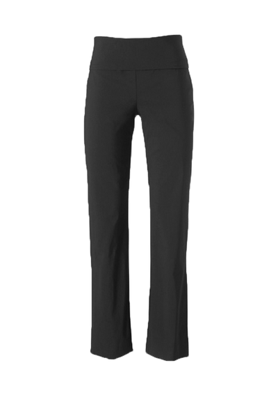 Ladies Charcoal Bengaline High Stretch Pant