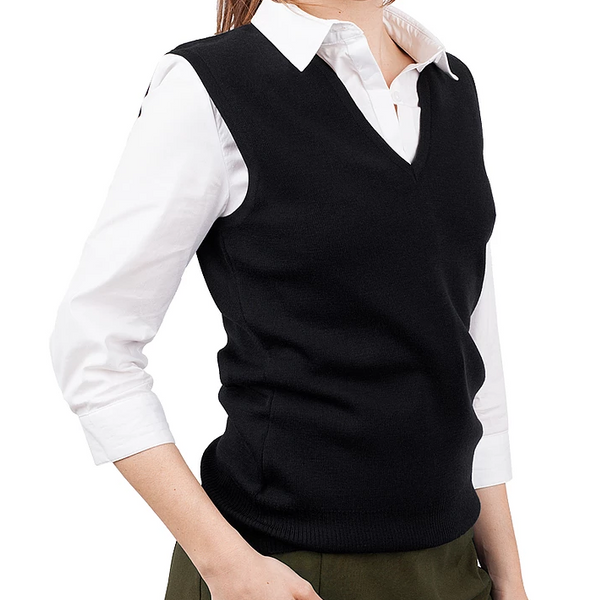 Ladies Black Merino Vest