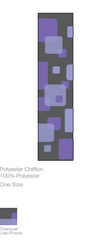 Cube Patterned Ladies Scarf - Charcoal/Lilac/Purple