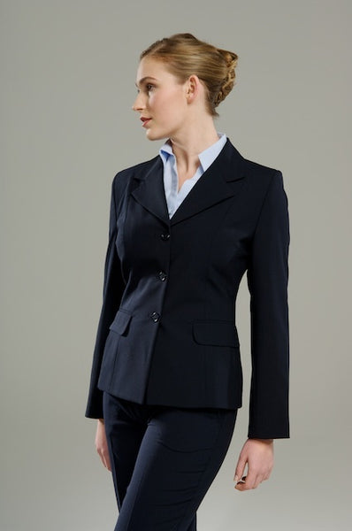 Polywool Z Stretch - Mid Length Navy 3 Button Jacket