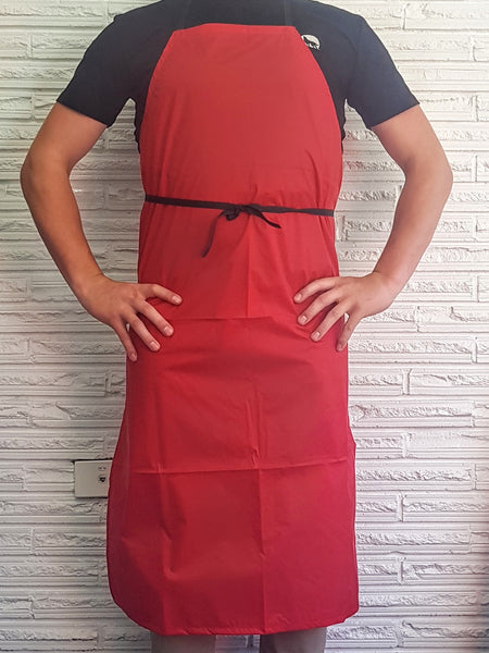 Nylon Wipedown NZ MADE Apron-Red-Water Resistant