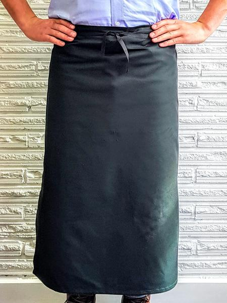 AL11 Long Waist Apron With Pocket - Forest