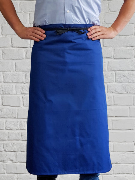 AL11 P/C Long Waist Apron Royal