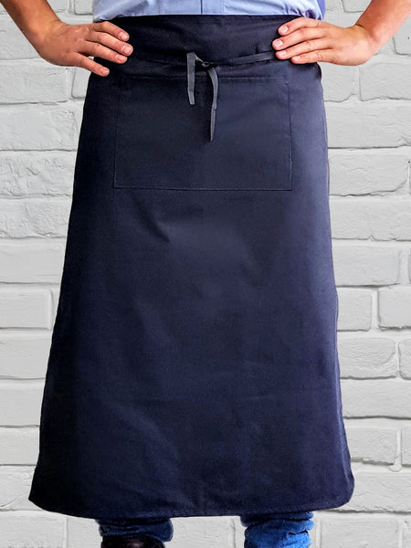 AL11 Navy Long Waist Apron NZ Made