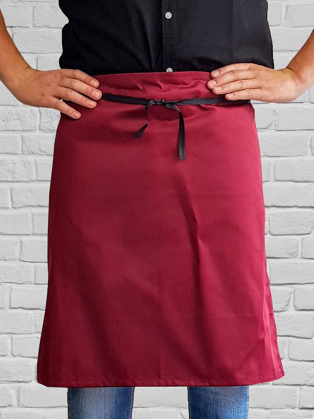 Long Waist Apron - Red