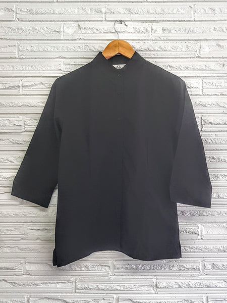 Ladies Black 3/4 sleeve Blouse