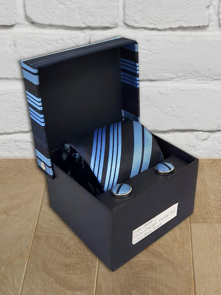 Men's 'Charger' Blue/Black Tie