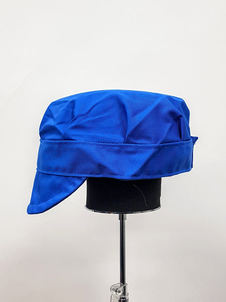 Blue Adjustable Bakers Cap