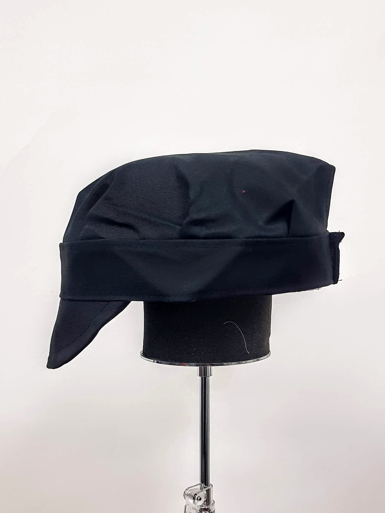 Black Adjustable Bakers Cap