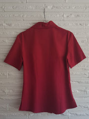 Ladies Panel Blouse Pepper Red