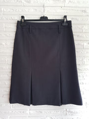 Ladies Kick Pleat Dark Charcoal Skirt