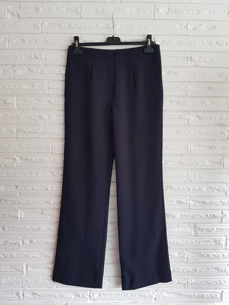 Ladies Navy Striped Pants with No Waistband