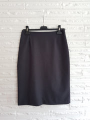 Ladies Dark Charcoal No Waistband Skirt