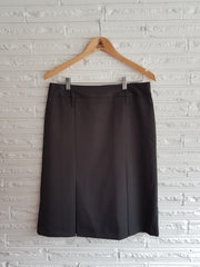 Ladies Kick Pleat Charcoal Skirt