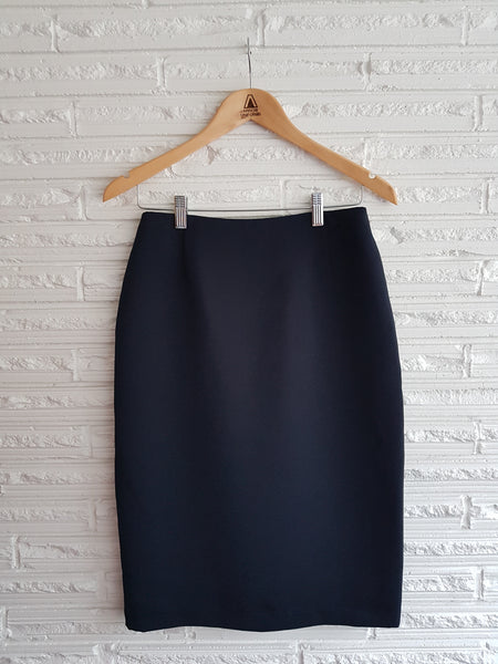 Ladies Navy No Waistband Skirt