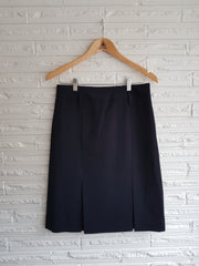 Ladies Kick Pleat Navy Skirt