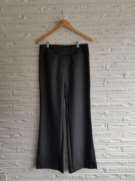 Ladies Charcoal Lowrise Trousers