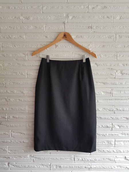 Ladies Charcoal No Waistband Skirt