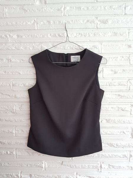 Ladies Sleeveless Shell Top Charcoal