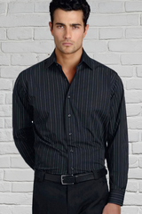 Mens Long Sleeve Relaxed Fit Shirt - Black