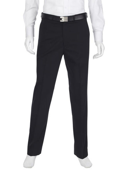 Mens Flat Front Black Trouser