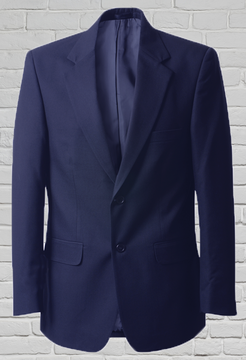 Mens Navy 2 Button Jacket