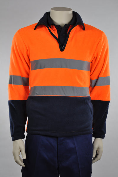 32843 Hi Vis 1/2 Zip Polar Fleece Pullover