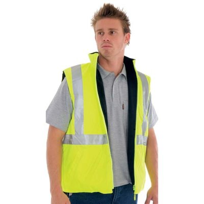 3865 HiVis Safety Reversible Vest - Yellow