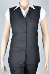 Ladies Longline Vest - Black