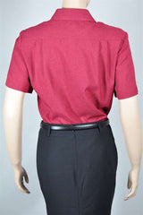 Ladies Short Sleeve Blouse with Pocket