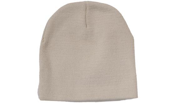 Acrylic No Roll Up Beanie - White