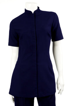 Navy Short Sleeve Beauty Tunic