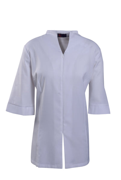 White 3/4 Sleeve Beauty Tunic