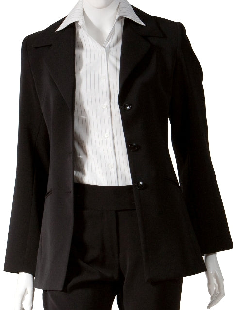 Ladies Black Longline Jacket