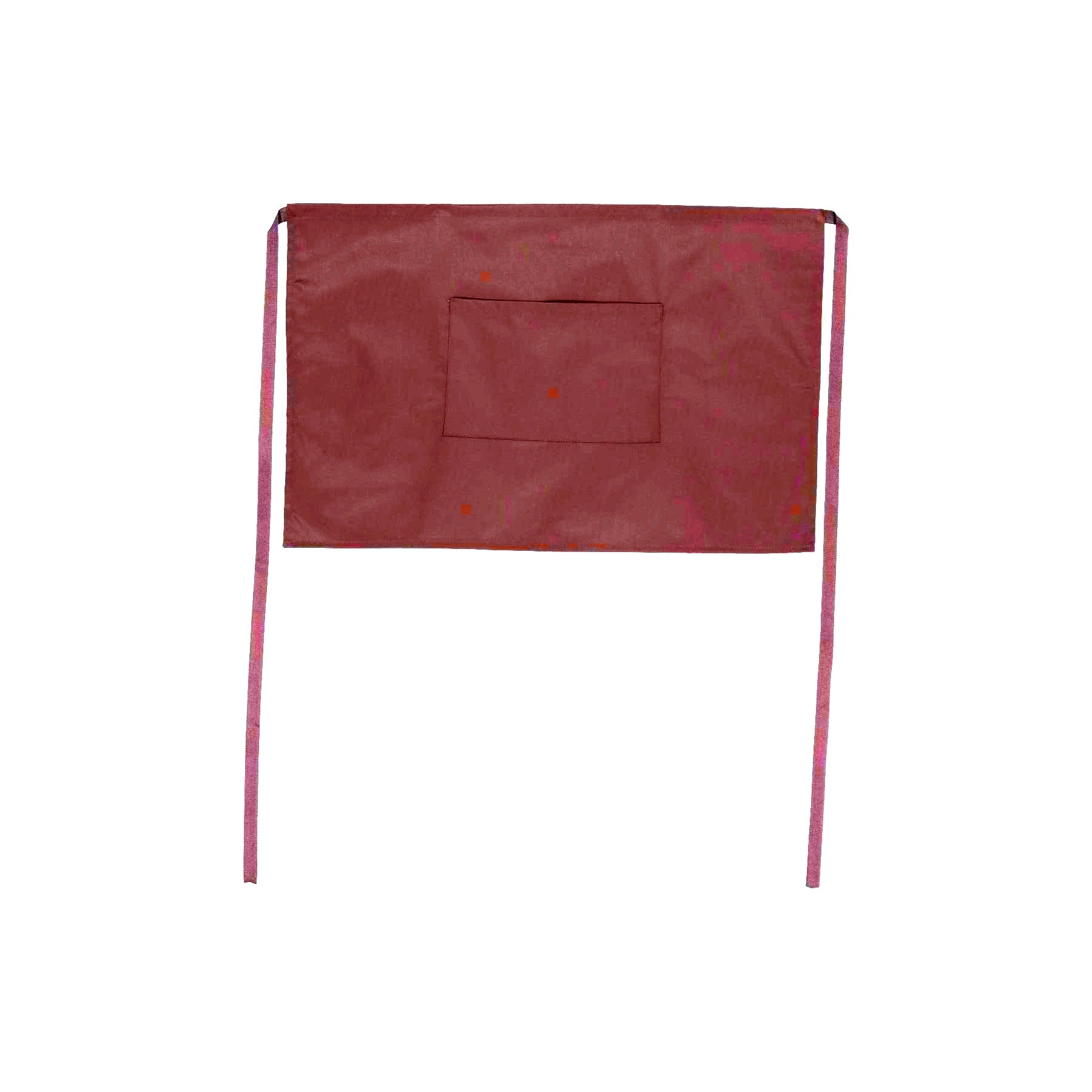 NZ Made 1/2 Waist Apron with Pocket - Burgundy