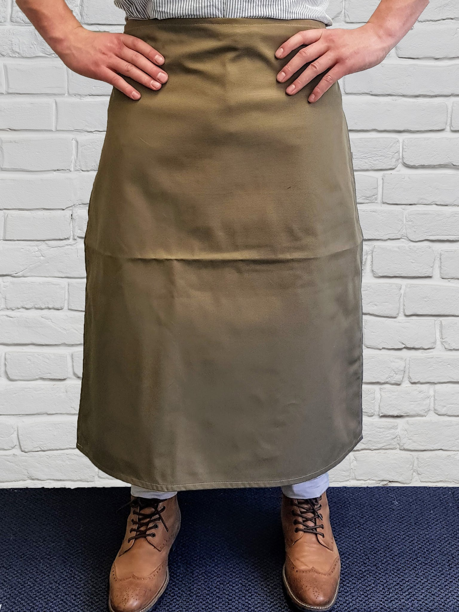 Khaki NZ Made Long Waist Apron