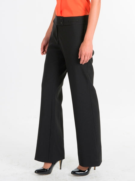 Ladies Black Lowrise Trousers