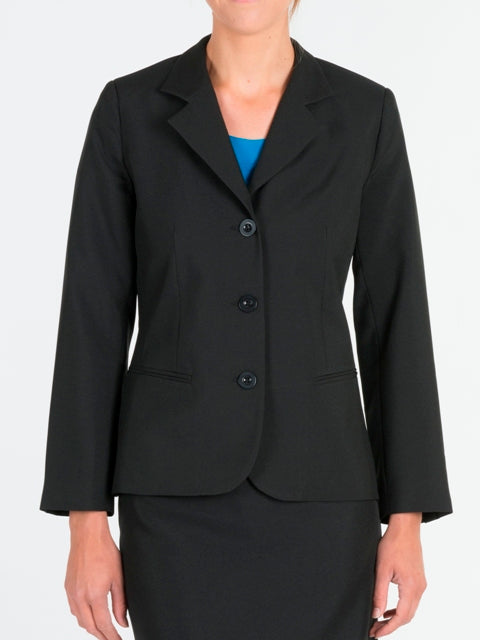 Ladies Black Shaped Jacket